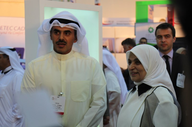 Inshaa group companys booth in big 5 Kuwait 2014